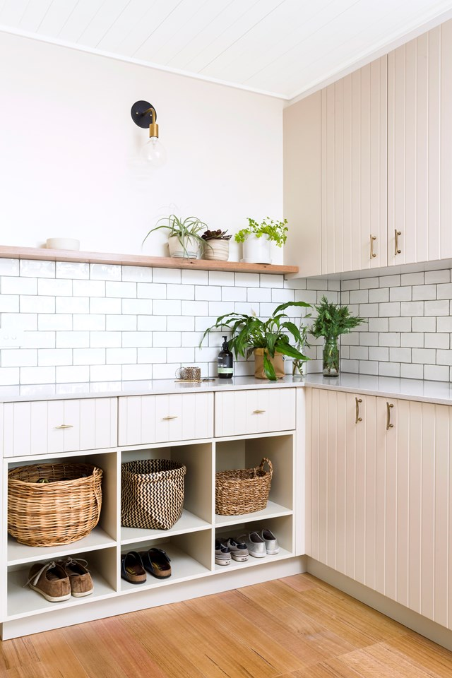 With three young boys and a pile of sport-related washing, the owners of this home in Victoria asked Sisällä Interior Design to devise a solution for their laundry. With sufficient storage, ample benchspace and a practical layout, we think they nailed the brief. Photo: Amorfo Photography.