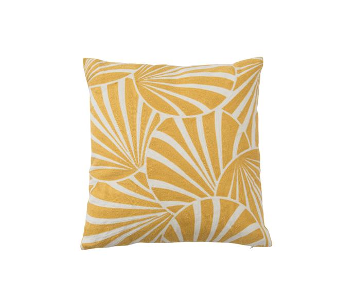 "Galliano cushion in Yellow, $39.95, from [Pillow Talk](http://www.pillowtalk.com.au/|target=""_blank""