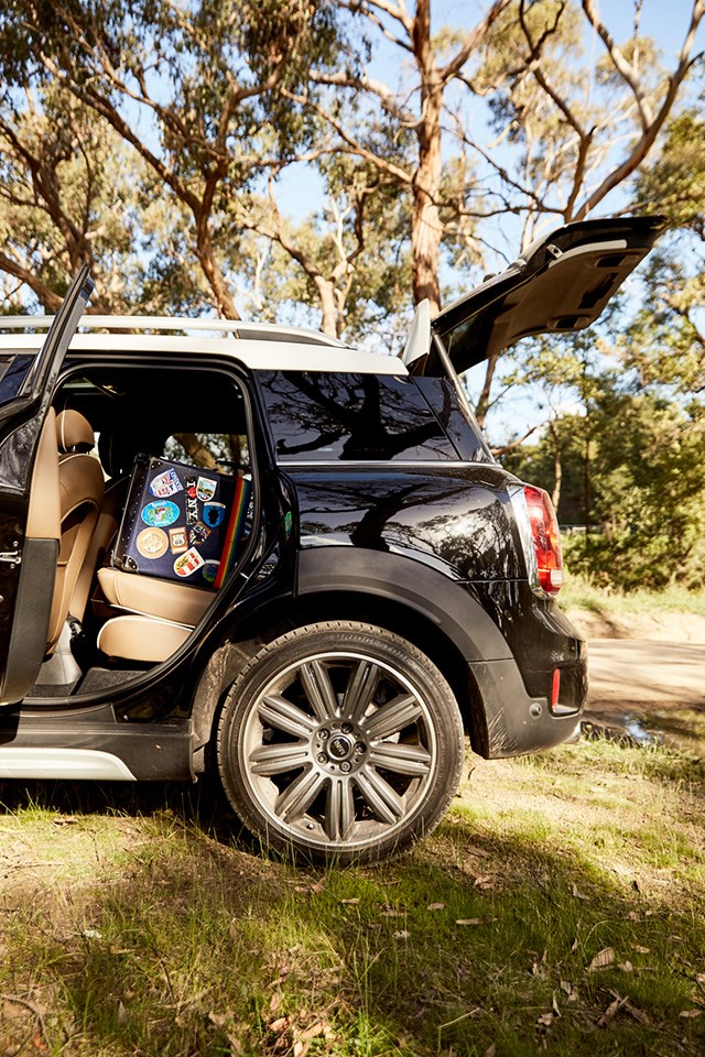 With a glass sunroof and great boot space, the stylish MINI Countryman makes the perfect getaway car.