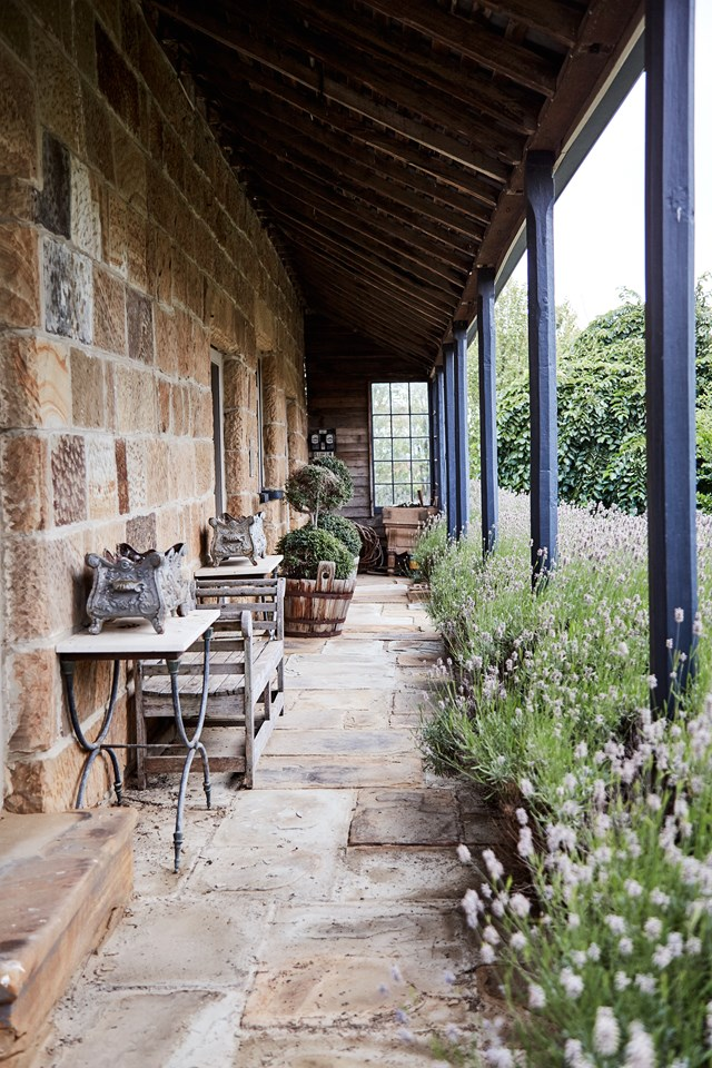 "A path of stone pavers, surrounded by lavender gives this Tasmanian abode a little slice of [European style](https://www.homestolove.com.au/european-style-garden-in-tasmania-5889|target=""_blank"")."