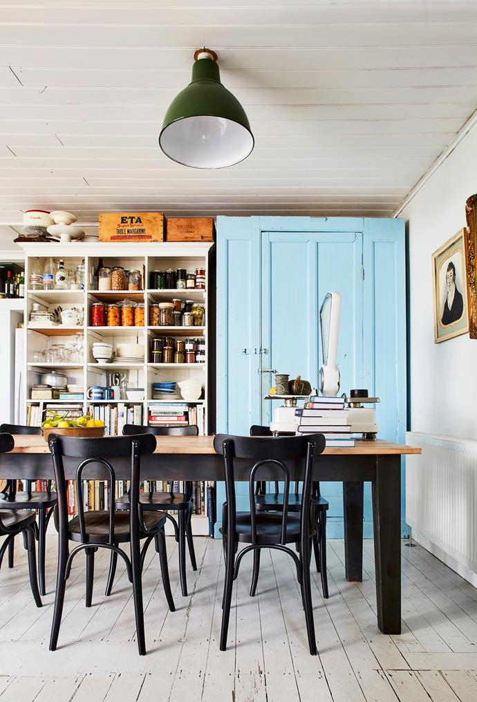 Michelle's cosy kitchen is piled high with local delicacies and cookbooks.