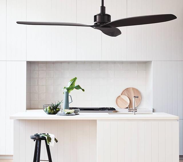 "Viceroy 132cm DC Fan Only in Black, $595, at [Beacon Lighting](https://www.beaconlighting.com.au/viceroy-132cm-dc-fan-only-in-black.html|target=""_blank""