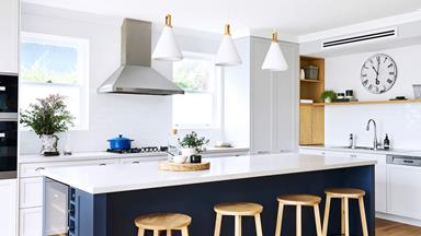 A 1920's style bungalow in Sydney's north gets a chic navy kitchen