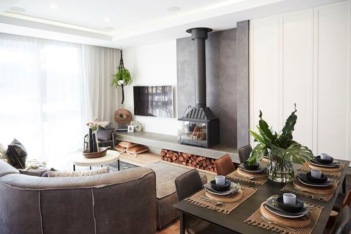 Living and dining room. Photo: The Block