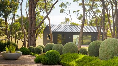 A manicured garden on Victoria's Mornington Peninsula