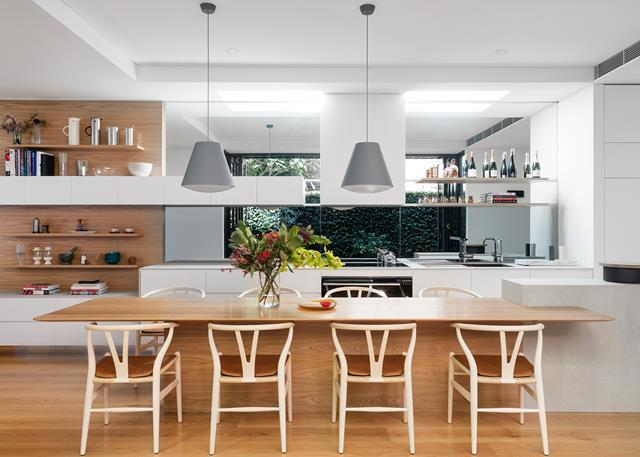 The owners of this kitchen [demolished a bathroom](https://www.homestolove.com.au/narrow-terrace-renovation-5624) that blocked the view of their backyard in order to make the most of their window splashback. <br><br>  *Photographer: Stephen Julliard / Belle*