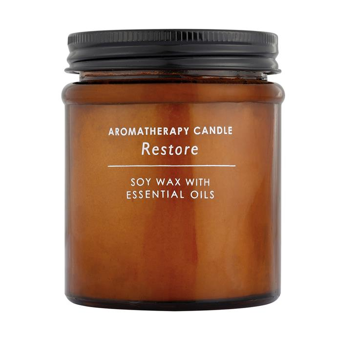 Our senior digital editor owns this candle, and can attest to how good it smells. For $6, it's a total steal.  <br><br> Aromatherapy Candle, [$6](http://www.kmart.com.au/product/restore-aromatherapy-candle/1657812)