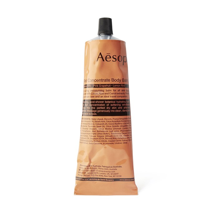 Aesop Rind Concentrate Body Balm, $39, [Adore Beauty](http://fave.co/2gTzVBN).