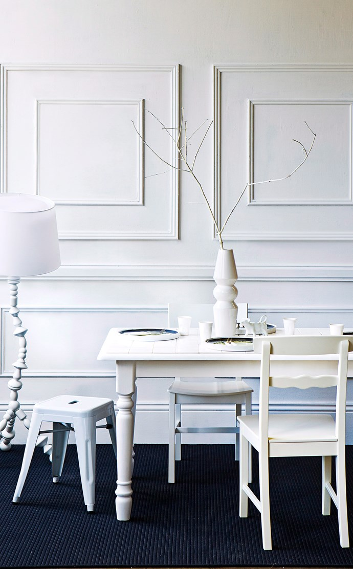 Mixing different tones of white can make just as big an impact as colours and patterns, when done right that is. *Photography: Maree Homer / Bauer Syndication*