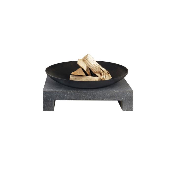 A sophisticated outdoor fire pit like this can be used when entertaining guests throughout the year, or for toasting marshmallows with the kids.  <br><br> Fire Pit Bowl w Square Stone Base, $196, [MyDeal](https://www.mydeal.com.au/outdoor-fire-pit-bowl-w-square-stone-base-in-black)