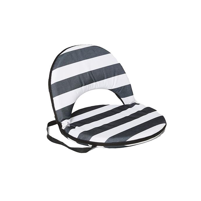 Backyard to beach, this stylish disk chair has 4 reclining positions that lock in place, ensuring you're comfy wherever you are.  <br><br> Tortuga Stripe Disk Chair, $29, [Target](http://fave.co/2h7cB3j)