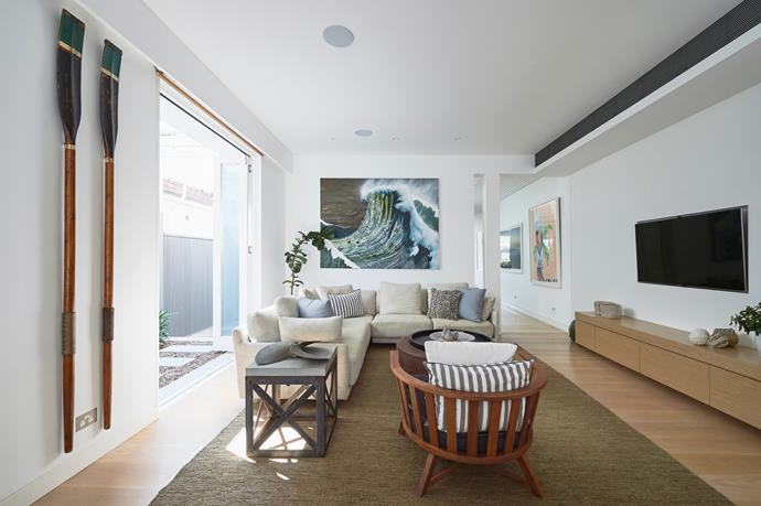 Sleek lines are paramount to the home's design, and flourishes are kept to a minimum.