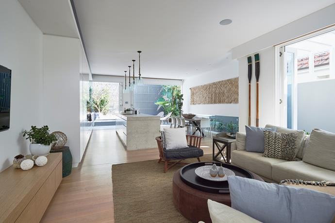 Natural light is a key feature in this open plan home, and a neutral palette is used throughout.