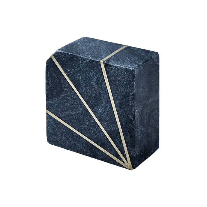 Stone Bookend in Grey Marble, $69, [West Elm](http://www.westelm.com.au/stone-bookend-gray-marble-d4204).
