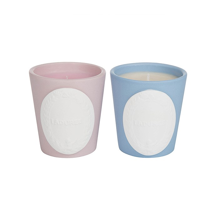 Laduree Candles in Powdered Rose & Sweet Pastry, $73, [Amara](http://fave.co/2iCLgqc).