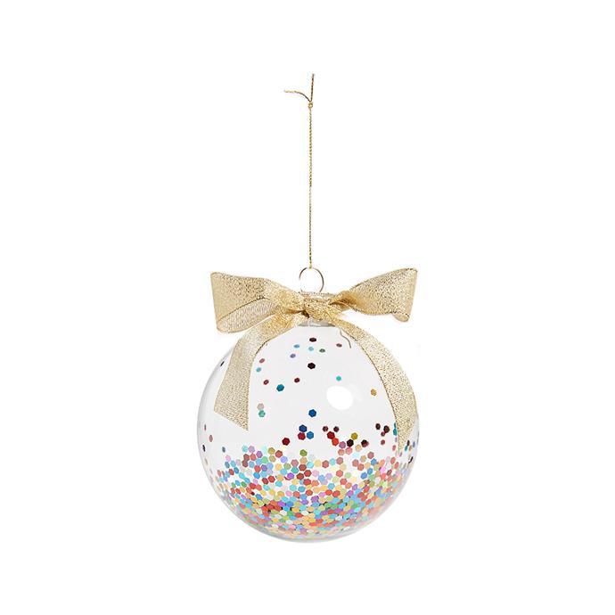 Confetti Glass Ornament, $26, [Shopbop](http://fave.co/2hansK2).