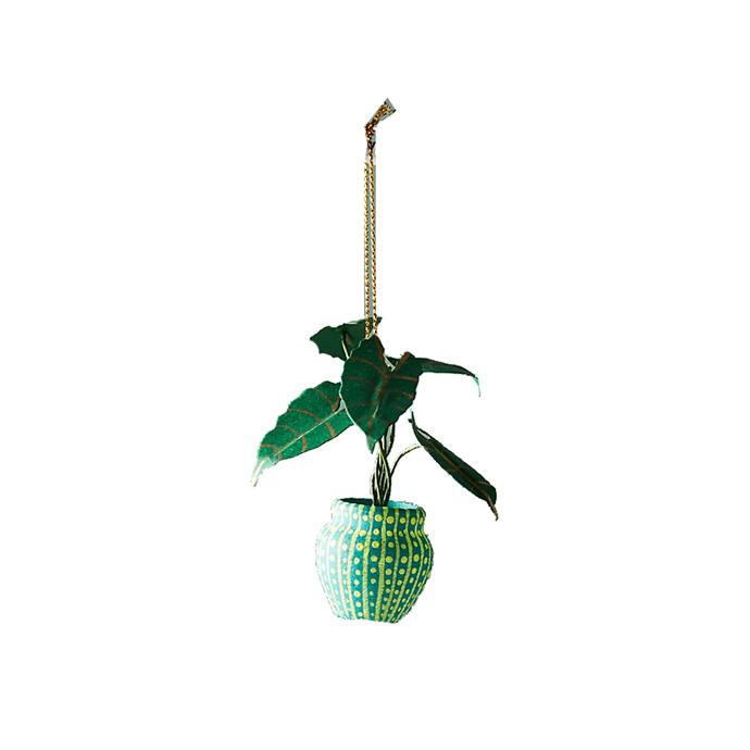 Glinted Houseplant Ornament, $10, [Anthropologie](http://fave.co/2iGrNES).