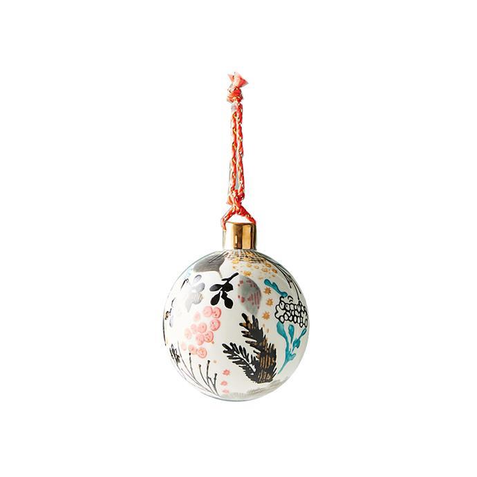 Botanical Ball Ornament, $24, [Anthropologie](http://fave.co/2hcAZAz).
