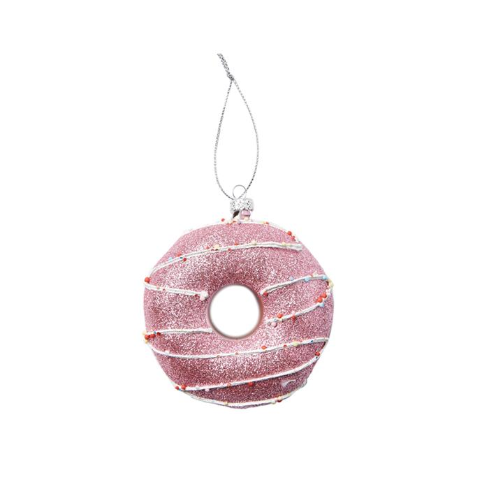 Glazed Donut Ornament, $7, [Cotton On Home](http://fave.co/2hbUsSb).