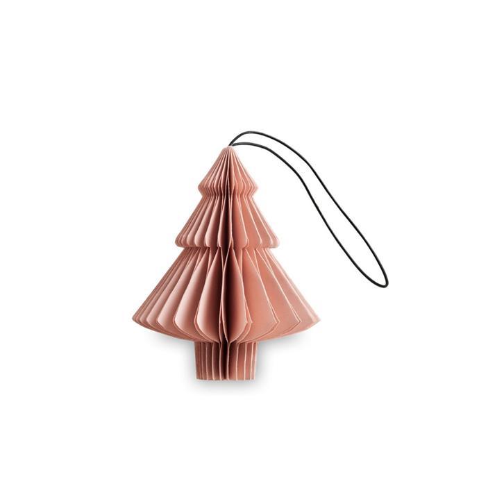Nordstjerne Dusty Rose Paper Tree Ornament, $15, [Luumo](https://luumodesign.com/christmas/nordstjerne-dusty-rose-paper-tree-christmas-ornament/).