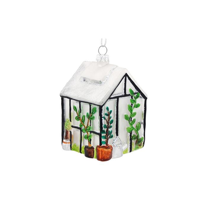 Greenhouse Ornament, $14.99, [Bronner](https://www.bronners.com/product/greenhouse-glass-ornament.do?sortby=ourPicks&refType=&from=fn&ecList=7&ecCategory=100469).