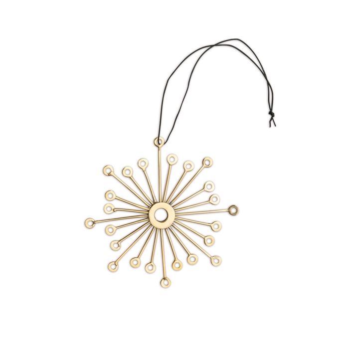 Brass Snowflake Ornament, $18, [Luumo Design](https://luumodesign.com/christmas/nordstjerne-brass-snowflake-christmas-ornament/).