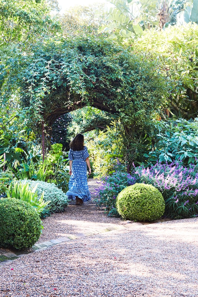 "The [19th Century garden at Bronte House](https://www.homestolove.com.au/19th-century-garden-at-bronte-house-5996|target=""_blank"") was restored by custodian Anna van der Gardner, pictured strolling along one of the historic pathways under arches laden with roses and other sweet-smelling climbers."