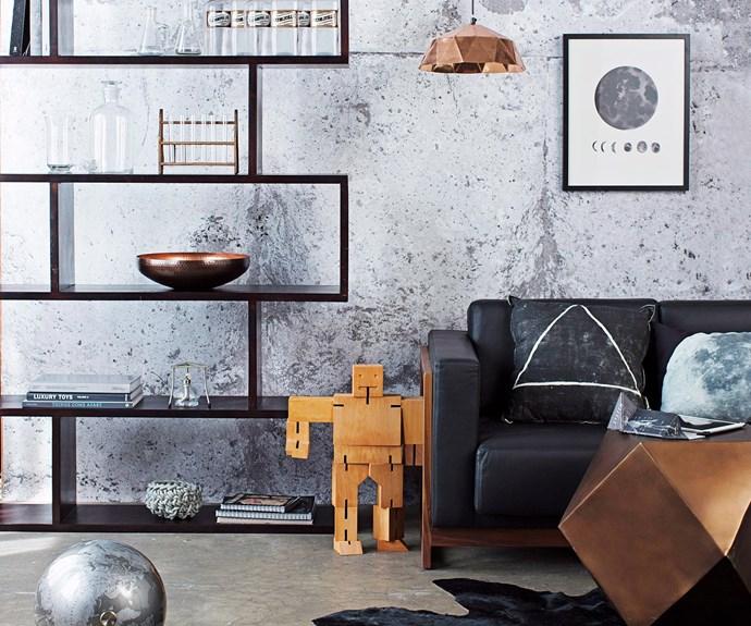 Robot statue in living room