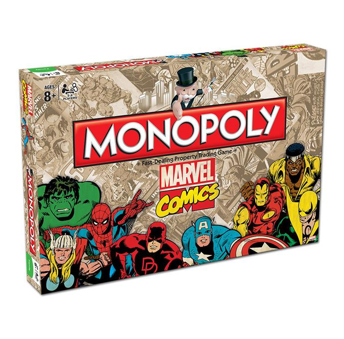 Update your standard Monopoly game with this retro-inspired Marvel Comics version that the kids will love even more.  [Marvel Retro Monopoly](http://shop.davidjones.com.au/djs/ProductDisplay?catalogId=10051&productId=9603502&langId=-1&storeId=10051), $49.95