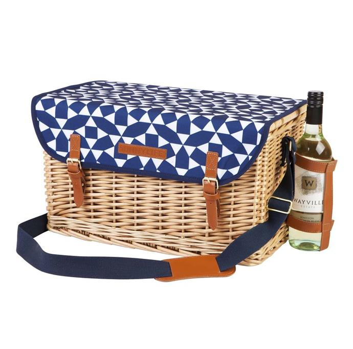 This wicker picnic basket comes with everything you'll need for dining outdoors - plates, cutlery, glasses and even a hardwood fold-up table which doubles as a chopping board. With an external wine holder and removable fabric lid which doubles as a mat to sit on, it seems the humble picnic basket has come a long way since the plastic versions back in the '80s.  [Sunny Life Andaman Luxe Picnic Basket](https://www.sunnylife.com.au/collections/picnic/products/luxe-picnic-basket-andaman-ss18), $199