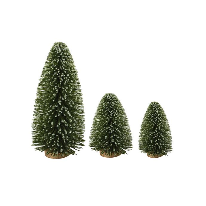 Surround your Christmas tree with these mini bottle brush numbers to create a truly magical festive set up. <br><br> Mini Bottle Brush Trees, 3 pack, $7