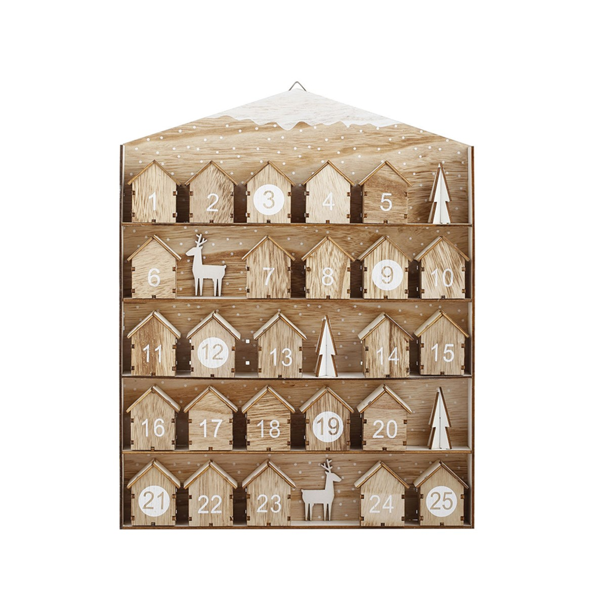 This plywood advent calendar is decidedly luxe, and frankly we can't believe the price.  <br><br> Advent Calendar, $12