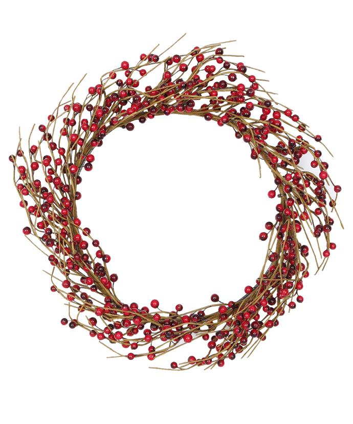 Australian House & Garden Eucalyptus Berries Wreath, $59.99, [Myer](https://www.myer.com.au/shop/mystore/modern-rustic/eucalyptus--berries-wreath---red-529453360)