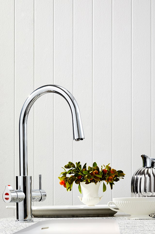 As featured in the Dec/Jan issue of *Belle* magazine, the Zip HydroTap Celsius All-In-One Arc fits within any style of kitchen thanks to its elegant and timeless design.