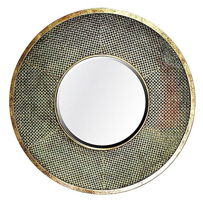 "Safi Round Wall Mirror, $244.95, from [Zanui](https://www.zanui.com.au/Safi-Round-Wall-Mirror-129772.html |target=""_blank""|rel=""nofollow"")."