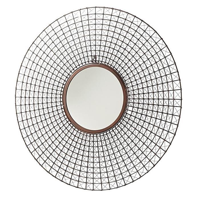 "Galenia Round Mirror, $229.95, from [Zanui](https://www.zanui.com.au/Galenia-Round-Mirror-142255.html|target=""_blank""|rel=""nofollow"")"