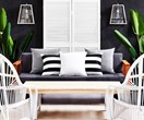 How to style a monochrome Hamptons outdoor area