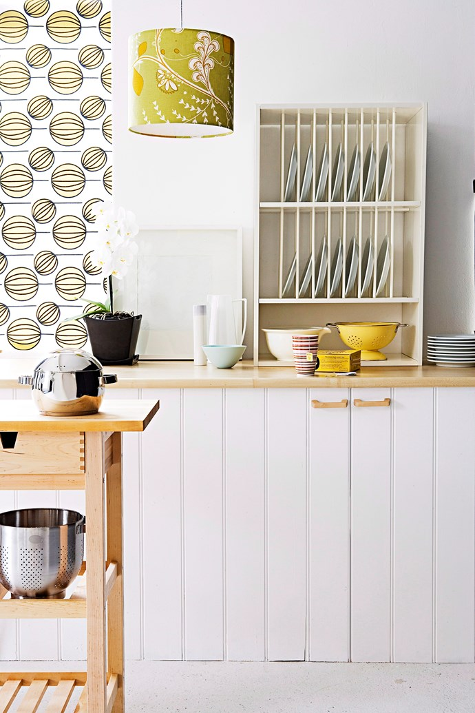 Who says storage has to conceal your dinnerware and appliances? Photo: Richard Birch / bauersyndication.com.au