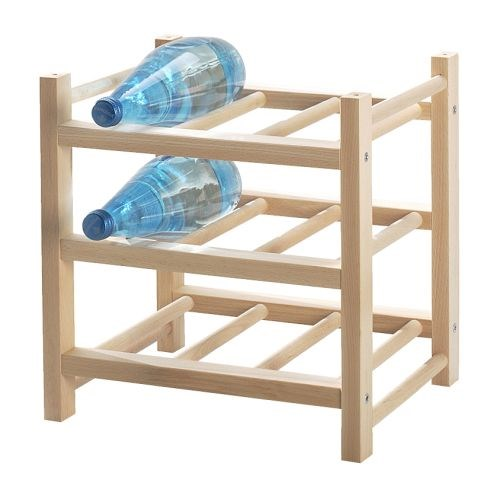 To store all that extra booze. HUTTEN 9-bottle wine rack, [$16.99]