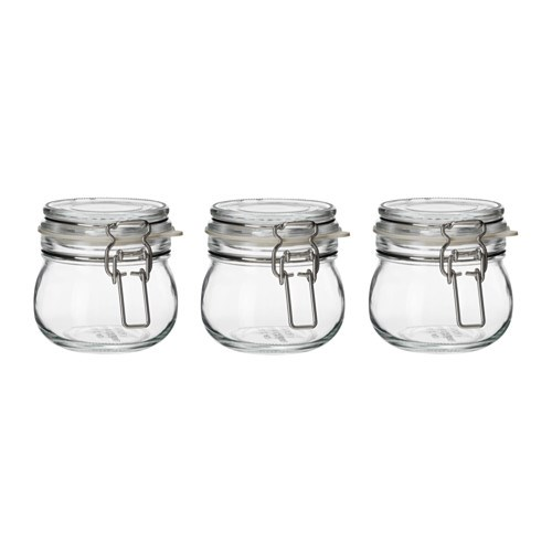 """Great for gifting homemade jam, relish or sweet treats! KORKEN Jar with lid, [$3.99 / 3 pack](https://www.ikea.com/au/en/catalog/products/10325112/