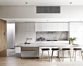 neutral kitchen white wood black