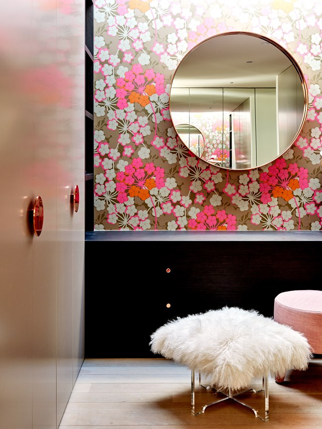Storage and correct mirror placement are essential in any dressing room. *Photo: Belle*