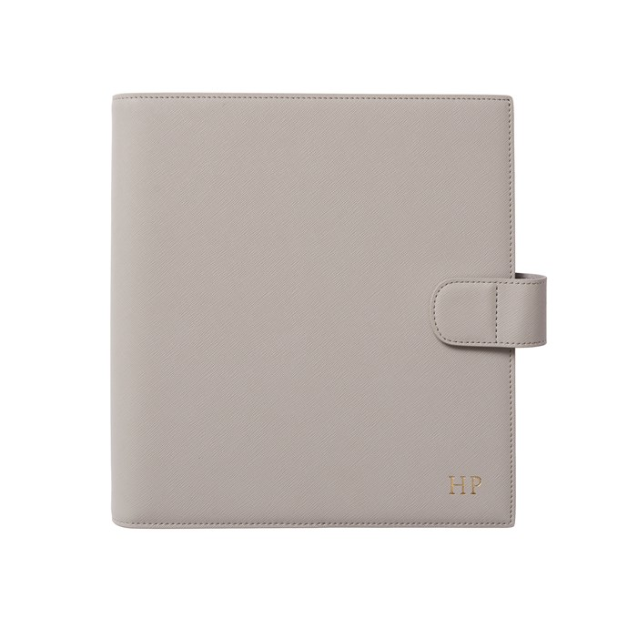 """'Mist Grey' 2018 Planner, $139.95, [The Daily Edited](https://www.thedailyedited.com/mist-grey-2018-planner