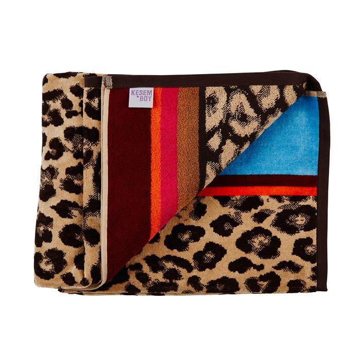 "'Leopard St.' Beach towel, $100, [Kesem Boy](https://www.kesemboy.com/collections/beach-towels|target=""_blank""|rel=""nofollow"")"