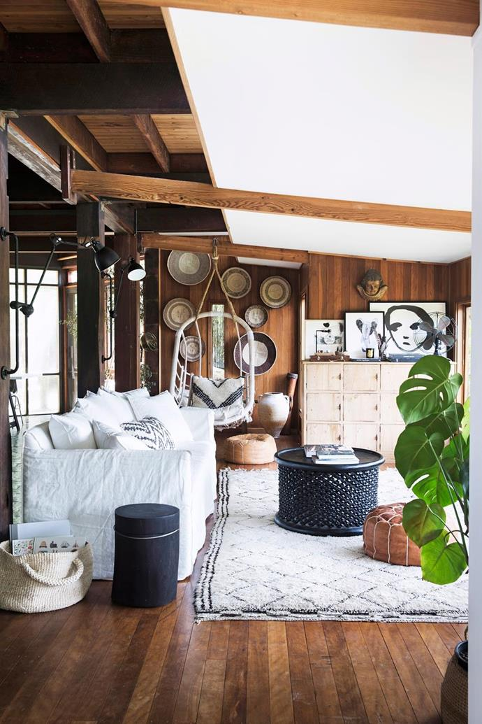 "[This stylist's tree change to the NSW Central Coast involves a bohemian, cabin-style abode.](https://www.homestolove.com.au/nsw-central-coast-tree-change-5298|target=""_blank""