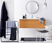 A simple modern bathroom gets three unique, on-trend makeovers