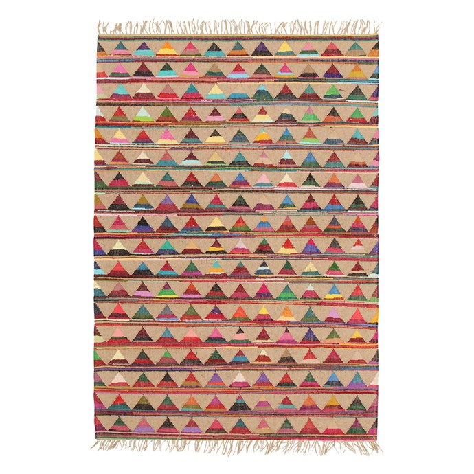 "Marlo Natural Jute & Cotton Rug, $219 at [Temple & Webster](https://www.templeandwebster.com.au/Marlo-Naturl-Jute-and-Cotton-Rug-ATR-BUN-MULT-NETW4643.html?redir=marlo&rtype=8&dept=&ust=|target=""_blank""