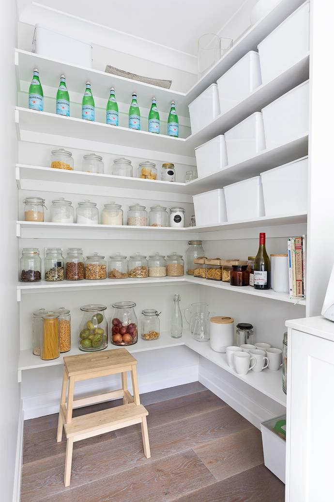 "A [Hampton's style butler's pantry](https://www.homestolove.com.au/hamptons-style-butlers-pantry-6287|target=""_blank"") is one of Brandi's favourite features."