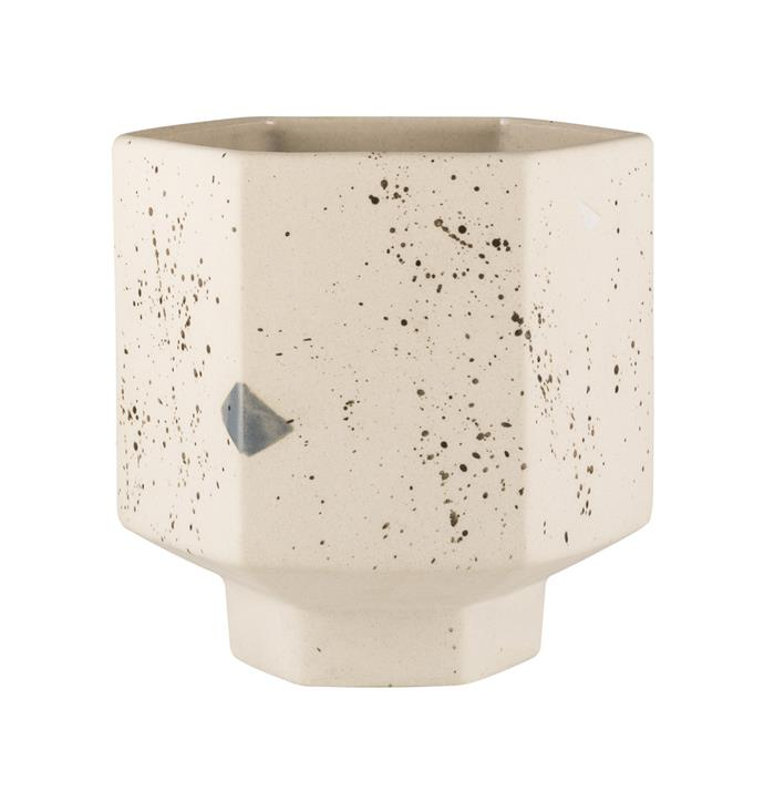 "Carved Pot in Confetti, $49, [Zakkia](http://www.zakkia.com.au/carved-pot-confetti|target=""_blank""|rel=""nofollow"")"