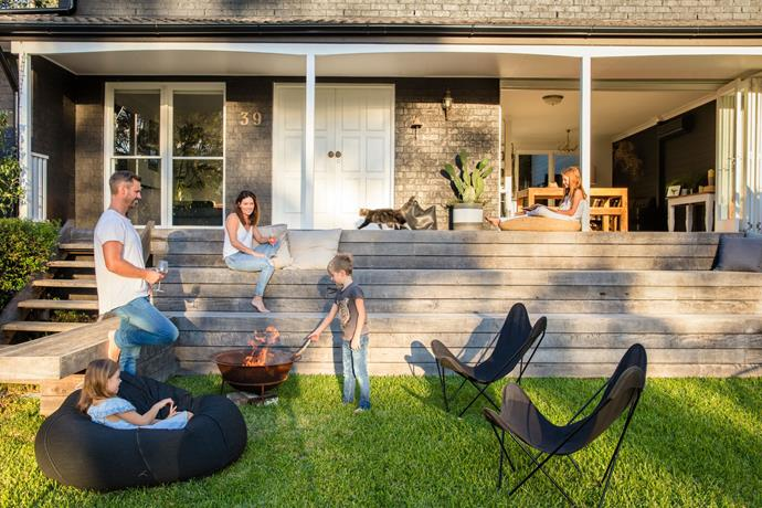 Matt predicts fire pits are one trend that will stick around for many years to come, so it's a worthwhile investment. *Photo: Jason Busch*